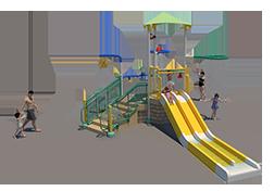100st Aquatic Play Unit Model